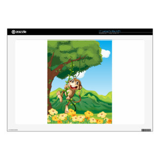 """Monkey Decal For 17"""" Laptop"""