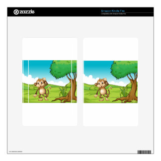 Monkey Decal For Kindle Fire