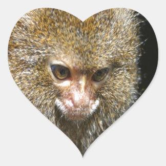 monkey deep thinker  learn from experience heart sticker
