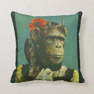 Monkey Demon Throw Cushion