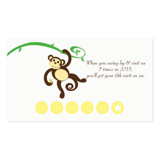 Monkey Discount Promotional Punch Card Double-Sided Standard Business Cards (Pack Of 100)
