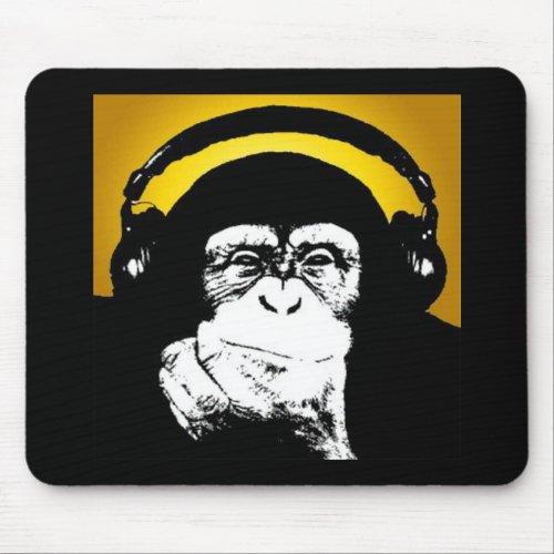 Monkey DJ Mouse Pad