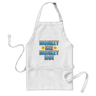 Monkey Do Life B Adult Apron