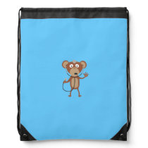 monkey doctor drawstring backpack