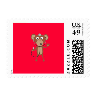 monkey doctor postage stamp