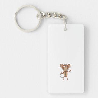 monkey doctor Single-Sided rectangular acrylic keychain
