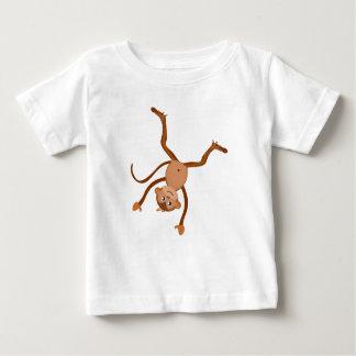 Monkey Doing Cartwheel Baby Shirt