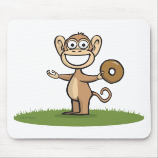 Monkey Donuts Mouse Pad