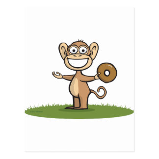 Monkey Donuts Post Card