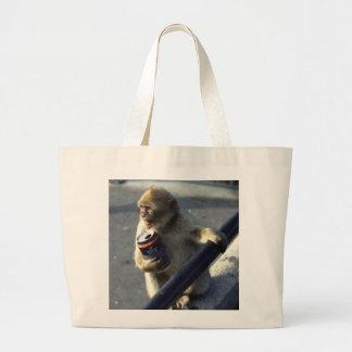 Monkey Drinking Tote Bag
