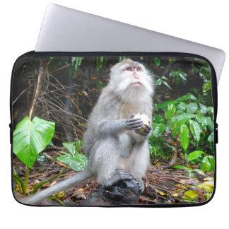 Monkey Eating Laptop Sleeve