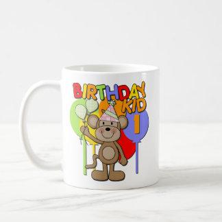 Monkey el 1r cumpleaños taza de café