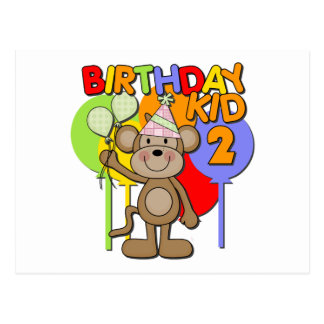 Monkey el 2do cumpleaños postales