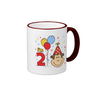 Monkey el 2do cumpleaños tazas de café