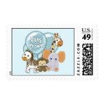 Monkey Elephant Baby Shower CJ Blue Postage