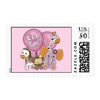 Monkey Elephant Baby Shower CJ Orchid Postage
