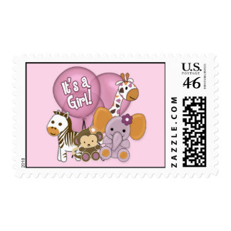 Monkey Elephant Baby Shower CJ Orchid Postage