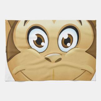 monkey emoji hand towels