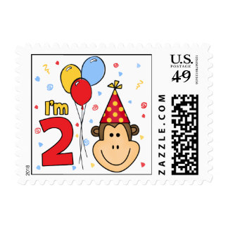 Monkey Face 2nd  Birthday Postage Postage Stamp