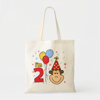 Monkey Face 2nd Birthday Tote Bag