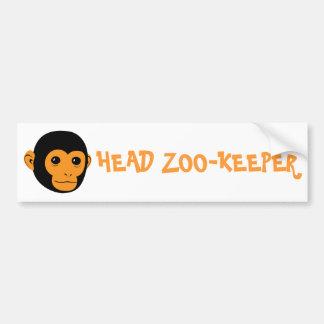 Monkey Face Bumper Sticker