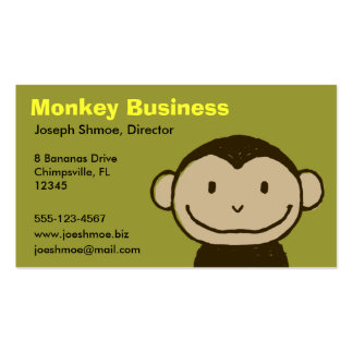 Monkey Face Double-Sided Standard Business Cards (Pack Of 100)