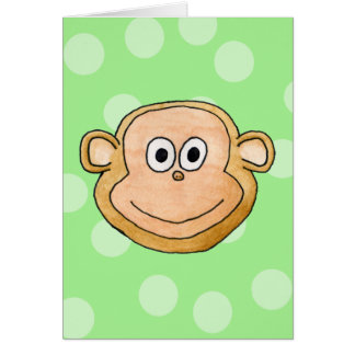 Monkey Face. Greeting Cards