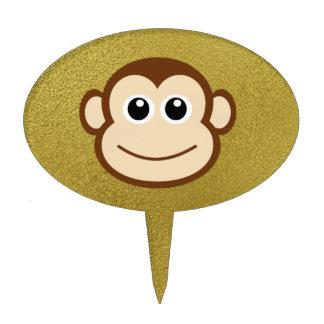 Monkey Face Cartoon Cake Topper