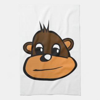 Monkey face cartoon kitchen towels