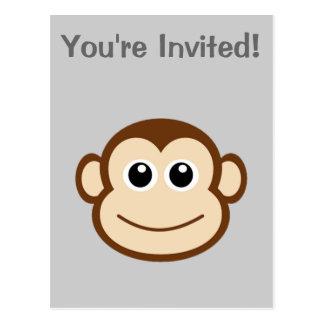 Monkey Face Cartoon Postcard