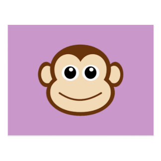 Monkey Face Cartoon Postcard