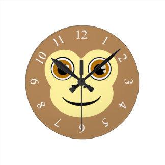 Monkey Face Round Clock