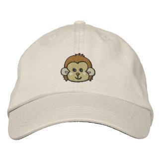 monkey face embroidered baseball cap