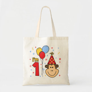Monkey Face First Birthday Tote Bag