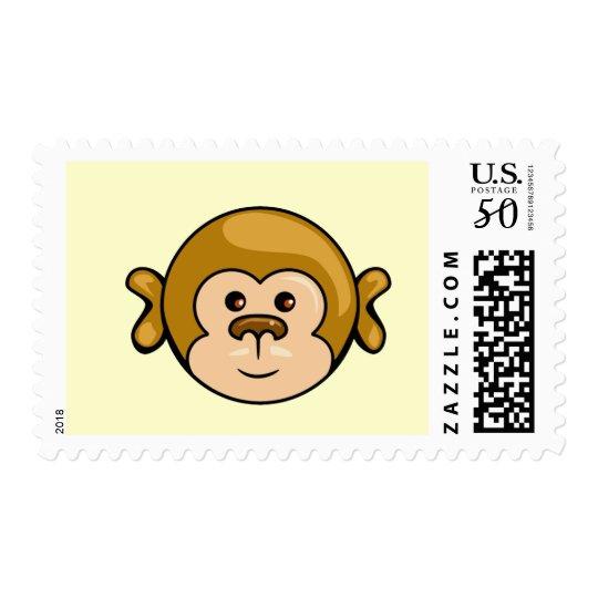 monkey face fun stamp