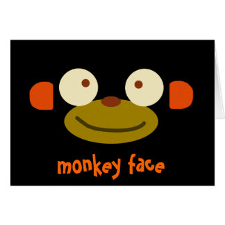 Monkey Face! Greeting Card