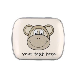 Monkey Face Jelly Belly Tin