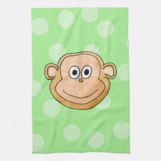 Monkey Face. Hand Towel