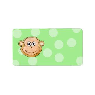 Monkey Face Personalized Address Labels