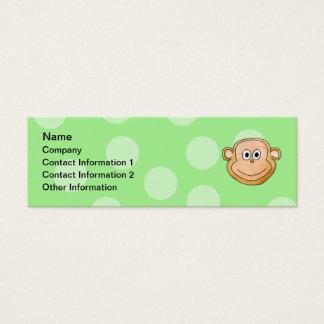 Monkey Face. Mini Business Card