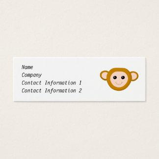 Monkey Face Mini Business Card