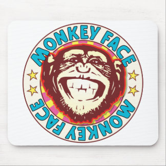 Monkey Face Mouse Pad