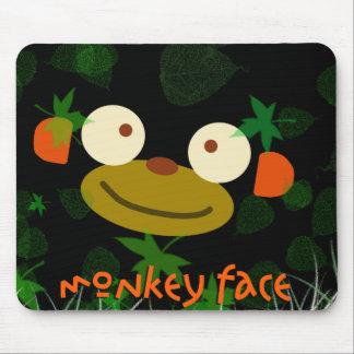 Monkey Face! Mouse Pad