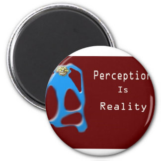 Monkey Face Perception is Reality 2 Inch Round Magnet