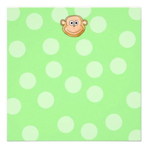 Monkey Face. Personalized Invitation