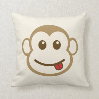 Monkey Face Pillow - brown back