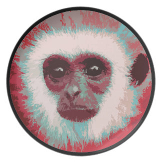 Monkey Face Plate (red)