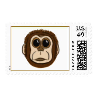 Monkey Face Postage Stamps