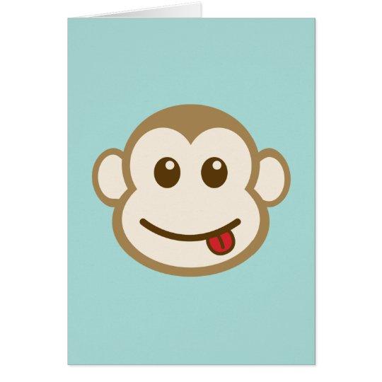Monkey Face Vector Art Card