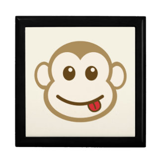 Monkey Face Vector Art Jewelry Boxes